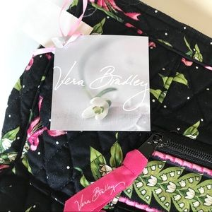 Vera Bradley NWT Black Floral Shoulder Bag